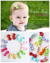 baby hair clip 30 fabulous and easy to make diy hair bows diy crafts