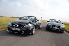 audi mercedes mercedes e class cabriolet vs audi a5 cabriolet auto express