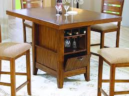 counter height kitchen island table marvelous small kitchen table with storage wine storage for family