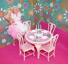 barbie dining room 1990 home pretty barbie in 1984 fashion dining room set 3 dining