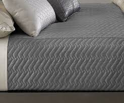 Grey Quilted Bedspread Hotel Collection Eifel Quilted Queen Coverlet Quilted Silver