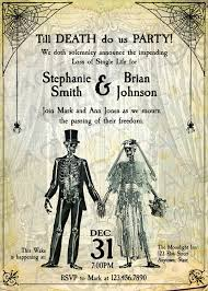 designs elegant funny halloween wedding invitations with modern