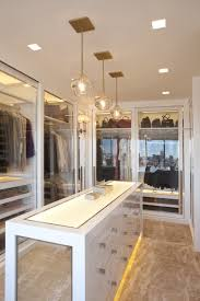 decorations sparkling glass walk in closet idea with tempered
