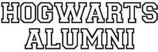 hogwarts alumni bumper sticker harry potter hogwarts alumni decal decal sticker
