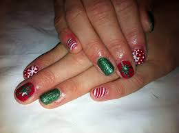 shellac christmas nail art how you can do it at home pictures