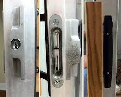 Keyed Patio Door Handle Replacing Keyed Door Hardware On A Sliding Glass Patio Door