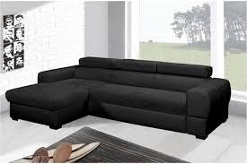 canap relaxima tresor canapã d angle convertible gauche noir