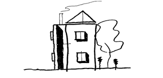 mansion clipart black and white town house house