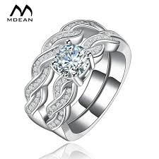 vintage wedding ring sets aliexpress buy mdean white gold color ring sets for women