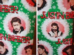 justin bieber wrapping paper 2013 24 olive