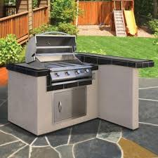 cal flame 4 ft bbq island with 4 burner gas grill greatgrills com