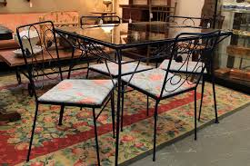 Old Metal Patio Furniture Found In Ithaca Vintage Metal And Glass Patio Table U0026 Chairs Sold