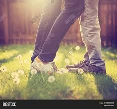 young couple kissing backyard image u0026 photo bigstock