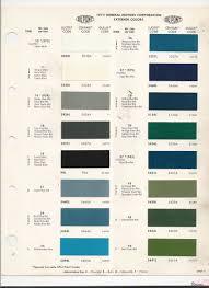 gm auto paint color chart 1972 chevrolet paint color code chart