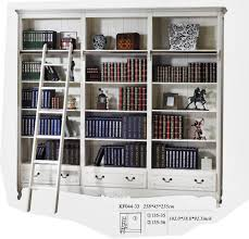 bookcases with ladder library style bookcase with ladder thesecretconsul com