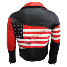 red leather motorcycle jacket usa flag slim fit biker leather fashion jacket 1000x1000 jpg