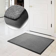 flooring entrance floor mats in grey with white paint wood door