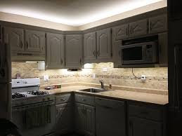 under cabinet lighting for kitchen beautiful kitchen led under cabinet lighting with cream cabinet