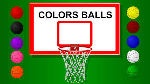 colors for children to learn with basket ball game teach colours