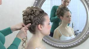 curl in front of hair pic wedding hair video tutorial updo with curls and front braid youtube