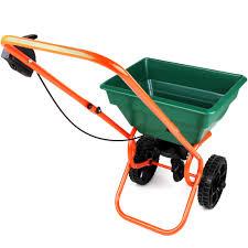 25l rotary spreader fertilizer gritter seed salt lawn outdoor