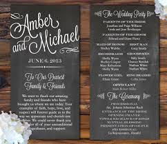 rustic wedding programs creative wedding program ideas
