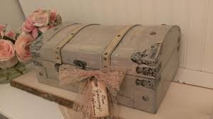 vintage wedding card box luggage card box shabby chic wedding