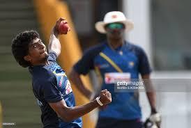 sri lankan l sri lankan cricketer lakshan sandakan l delivers a during a