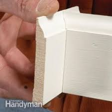 how to cope baseboard trim with a miter saw baseboard trim