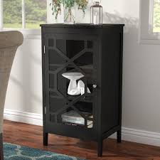 small accent cabinet with doors charlton home zauber small 1 door accent cabinet reviews wayfair ca