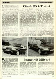 peugeot 405 sport peugeot 405 mi16 x 4 motor sport magazine archive