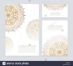 corporate identity with floral ornaments stock photo royalty free