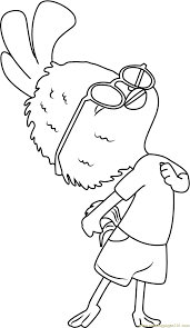 chicken little coloring pages glum me
