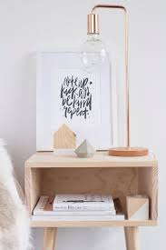bedside l ideas white grey and copper bedroom rose gold and bedrooms
