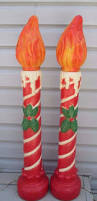 vintage poloron outdoor blow mold christmas 40 candles one flame