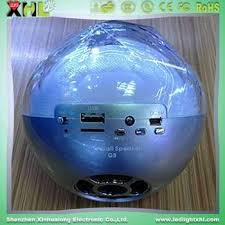 remote audio video lighting control bluetooth speaker with led light ball professional audio