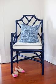 Leopard Beach Chair Cute As A Button Blue And White Chair With Leopard Pillow Home