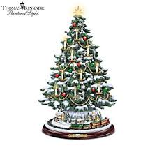 officially licensed kinkade tabletop illuminated musical