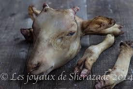 comment cuisiner le mouton comment nettoyer la tête et les pieds de mouton bouzelouf