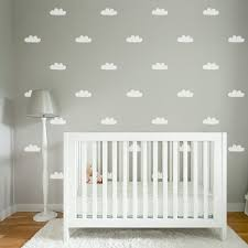 Decorating Nursery Walls Mini Cloud Decals Cloud Stickers Wall Sticker Nursery And Cloud