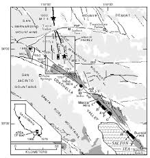 Joshua Tree California Map Triggered Surface Slips In The Coachella Valley Area Associated