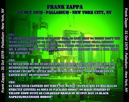 Sofa Frank Zappa T U B E Frank Zappa 1978 10 31 New York City Ny Aud Flac