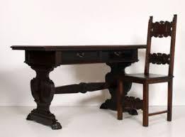sedia studio tavolo scrittoio scrivania con sedia fratino rinascimento ufficio