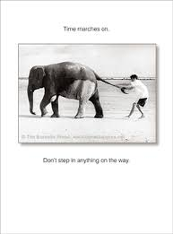 time marches on funny birthday card from quotearts com