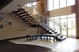 Glass Banister Kits Open Riser Stairs Custom Stairs Artistic Stairs
