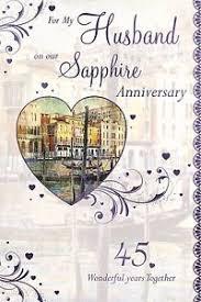 For My Husband On Our For My Husband On Our 45th Sapphire Anniversary Gondola Design