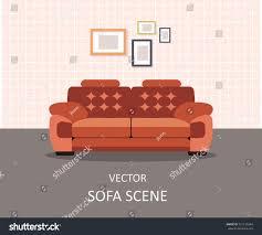 home interior interior design living room stock vector 521135344