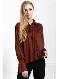 tie front blouse modern muse tie front blouse coffee blouses m zaful