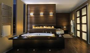 Bathrooms Idea Spa Bathroom Idea With Catchy Fireplace Design And Japanese