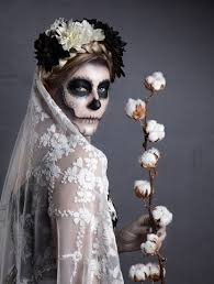 Mexican Woman Halloween Costume Scary Valentine Baking Images Sugar Skull Makeup Scary Bride